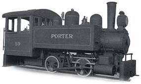 Bachmann Porter 0-4-0T Side Tank Painted, Unlettered G Scale Model Train Steam Locomotive #82599