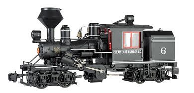 Bachmann 2-Truck Climax Clear Lake Lumber Co. #6 -- G Scale Model Train Steam Locomotive -- #85093