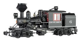 Bachmann 2-Truck Climax Clear Lake Lumber Co. #6 G Scale Model Train Steam Locomotive #85093