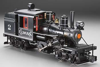 Bachmann 2-Truck Climax Manufacturing Co. #2 -- G Scale Model Train Steam Locomotive -- #85095