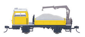 Bachmann Spectrum Ballast Vehichle w/Crane HO Scale Model Train Freight Car #87902