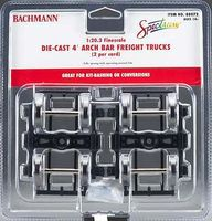 Bachmann Trucks - 4 Wheelbase Archbar 1 Pair G Scale Model Train Truck #88072