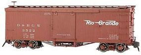 Bachmann Double-Sheathed Wood Boxcar Denver & Rio Grande G Scale Model Train Freight Car #88696