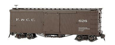 Bachmann Double-Sheathed Wood Boxcar w/Murphy Roof -- Florence & Crip -- Spectrum(R) -- G Scale -- #88697