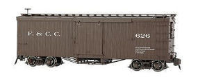 Bachmann Double-Sheathed Wood Boxcar w/Murphy Roof Florence & Crip Spectrum(R) G Scale #88697