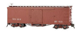 Bachmann Double-Sheathed Wood Boxcar w/Murphy Roof Spectrum(R) Data Only (Oxide Red) G Scale #88698
