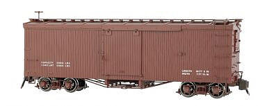 Bachmann Double-Sheathed Wood Boxcar w/Murphy Roof -- G Scale -- Data Only (Oxide Brown ) -- #88699