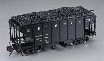 Bachmann Spectrum(R) East Broad Top 2-Bay Steel Hopper 1-20.3 Scale -- East Broad Top - Old Lettering - G-Scale