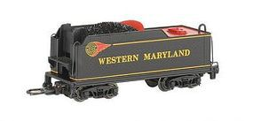 Bachmann USRA Medium Tender Western Maryland (Fireball) N Scale Model Train Steam Locomotive #89752