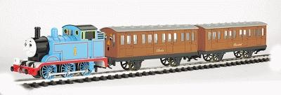 Bachmann Thomas w/Annie & Clarabel Set -- G Scale Thomas-the-Tank Electric Train Set -- #90068
