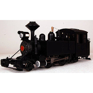 Bachmann 2-4-2T Steam Locomotive -- Standard DC -- Painted, Unlettered -- Black -- G Scale -- #91197