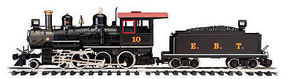Bachmann 4-6-0 Anniversary Edition East Broad Top #10 G Scale Model Train Steam Locomotive #91601