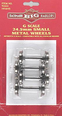 Bachmann Metal Wheels Small (4) G Scale Model Train Truck #92422