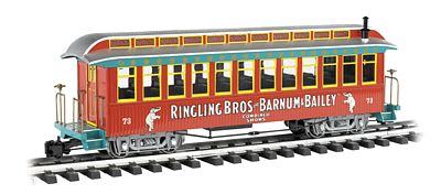 Bachmann Ringling Bros Jackson Sharp Coach #73 -- G Scale -- Model Train Passenger Car -- #92711