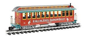 Bachmann Ringling Bros Jackson Sharp Coach #73 G Scale Model Train Passenger Car #92711