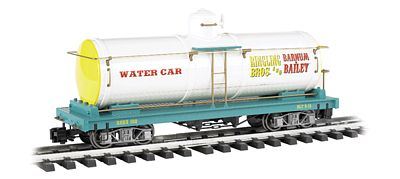 Bachmann Ringling Bros Water Tank Car -- G Scale -- Model Train Freight Car -- #92712