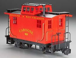 Bachmann Bobber Caboose Denver & Rio Grande G Scale Model Train Freight Car #93106