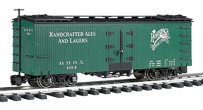 Bachmann Reefer Rohrbach Brewing -- G Scale Model Train Freight Car -- #93204