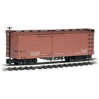 Bachmann Box Car Mineral Red Data Only G Scale Model Train Freight Car #93302