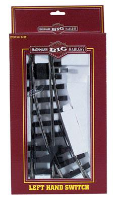 Bachmann Manual Switch LH G Scale Steel Model Train Track #94351
