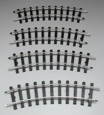 Bachmann Curved Track (4) G Scale Steel Model Train Track #94501