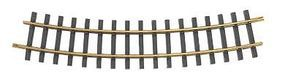 Bachmann European-Style Track w/Brass Rail 30'' 76.2cm Radius Section G Scale #94654