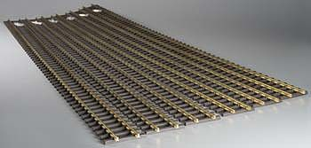 Bachmann 5' Straight (6) -- G Scale Brass Model Train Track -- #94660