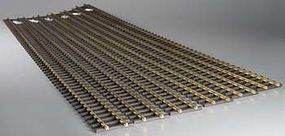 Bachmann 5' Straight (6) G Scale Brass Model Train Track #94660