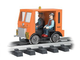 Bachmann Speeder - Standard DC w/Strobe & Headlight Maintenance of Way (orange, black) - G-Scale