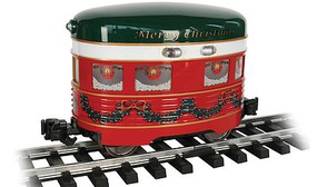 Bachmann Eggliner - Standard DC Christmas (red, green, white) - G-Scale