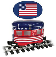 Bachmann Eggliner - Standard DC Independence Day (red, white, blue) - G-Scale