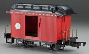 Bachmann Lil Big Haulers Baggage Short Line RR Red/Black G Scale Model Train Passenger Car #97088
