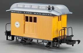 Bachmann Lil Big Haulers Baggage Short Line RR Yellow/Silver G Scale Model Train Passenger Car #97096