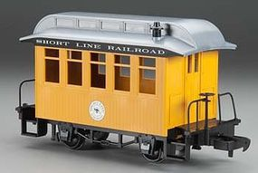 Bachmann Lil Big Haulers Coach Short Line RR Yellow/Slver G Scale Model Train Passenger Car #97097