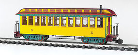 Bachmann Jackson Sharp w/Metal Wheels Coach Grizzly Flats G Scale Model Train Passenger Car #97205