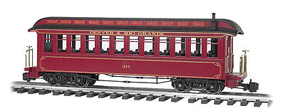 Bachmann Jackson Sharp w/Metal Wheels Coach D&RG -- G Scale Model Train Passenger Car -- #97206