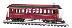 Bachmann Jackson Sharp w/Metal Wheels Coach D&RG G Scale Model Train Passenger Car #97206