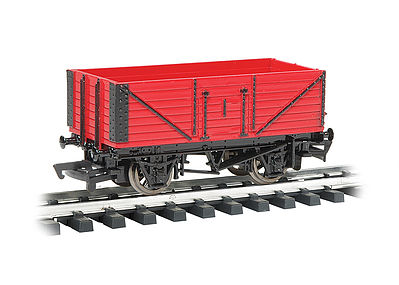 Bachmann Open Wagon Red -- G Scale Model Train Freight Car -- #98013