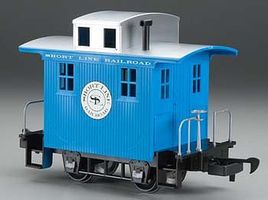 Li'l Big Haulers Caboose Short Line RR Blue/Slver G Scale Model Train Freight Car #98086