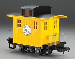 Bachmann Wood Cupola Caboose Lil Big Haulers - Short Line RR G Scale Model Train Freight Car #98087