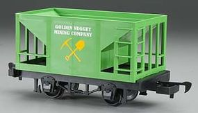 Bachmann Hopper Lil Big Haulers - Golden Nugget Mining Co. G Scale Model Train Freight Car #98097