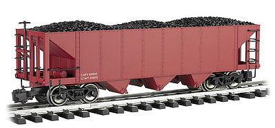 Bachmann Hopper Oxide Red Data Only -- G Scale Model Train Freight Car -- #98206