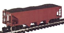 Bachmann 3-Bay Hopper - Painted, Unlettered (Red) -- G Scale Model Train Freight Car -- #98270