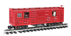 Bachmann Animated Stock Car CB&Q with Cattle G Scale Model Train Freight Car #98702