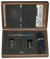 Badger Airbrush Fine, Medium & Heavy Heads in Wooden Case Airbrush and Airbrush Set #1505