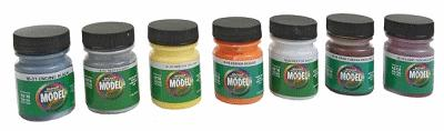 Badger Airbrush Co. Modelflex Paint Railroad Rolling Stock Colors -- Model Airbrush Paint Set -- #1701