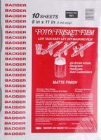 Badger Foto Frisket Transfer Paper 8-1/2x11 Matte Painting Mask Tape #601
