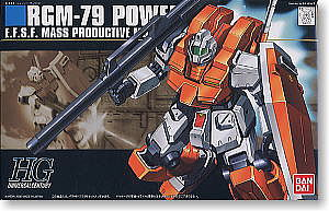 Bandai Models 67 RGM-79 Powered GM HG -- Snap Together Plastic Model Figure -- #145073