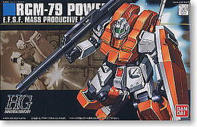 Bandai 67 RGM-79 Powered GM HG Snap Together Plastic Model Figure #145073