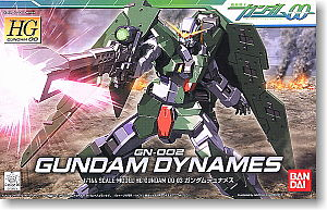 Bandai Models 3 Gundam Dynames HG -- Snap Together Plastic Model Figure -- #151920